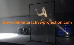 Wholesale Clear Rear Projection Film - Wholesale-Holographic rear projection screen film display vivid and clear picture for bank, gym, store windows, restaurant, exhibition