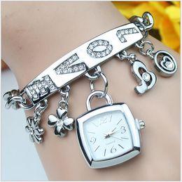 Wholesale New Korean Fashion Trend - The new square fashion watch Korean version of the trend of personalized bracelet watch premium women's watches wholesale