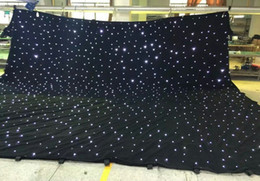 Wholesale Usa Backgrounds - led star curtain 3mx8m wedding backdrop stage background cloth with multi controller dmx function LLFA