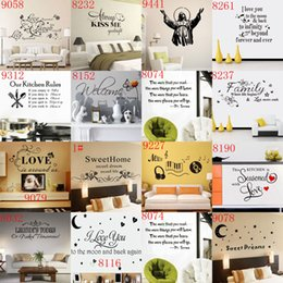 Wholesale Wall Sayings For Home - Mixed 168 styles Wall Quotes Decal Words Lettering Saying Wall Decor Sticker Vinyl Wall Art Stickers Decals Home Décor