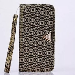 Wholesale Iphone5 Leather Pouch - Newest Luxury Glitter Crystal Diamond pu leather Flip case cover with card Wallet For Iphone5 5s 6 6s 6 6s plus