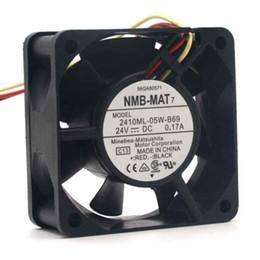 2019 ventilatore freddo 24v NMB-MAT 2410ML-05W-B69 DC 24V 0.17A 60 * 60 * 25mm 60mm 6cm Converter Ventola di raffreddamento a sfera ventilatore freddo 24v economici