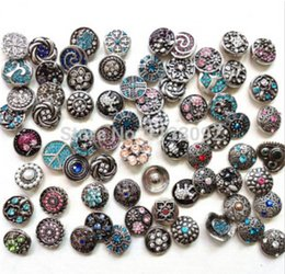 Wholesale Snaps Rhinestones - multi diy snap button styles 50pcs lot 18mm Metal Snap Button Charm Rhinestone Styles Button Ginger Snaps Jewelry free shipping