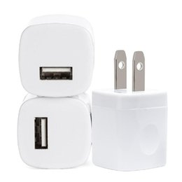 Wholesale Mini Usb Home Charger - 5V 1A US USB AC Wall Charger Home Travel Charger Adapter Mini USB charger For Samsung Smartphones mp3 pc