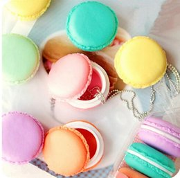 Wholesale Macaron Storage Boxes - 200pcs lot Cute Candy Color Macaron Mini Storage Box Jewelry Box Pill Case Birthday Gift