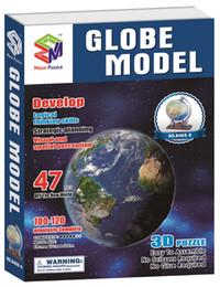 Wholesale Puzzles Map - 3D paper globeglobo terrestre puzzle terraqueo children school DIY gift world map globo mapa mundo Globe Model Tellurion 3D jigsaw Puzzle