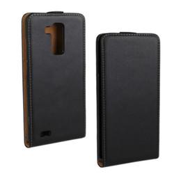 Wholesale Huawei Ascend Mate Flip - Wholesale For Huawei Ascend Mate 7 Black Case New Flip Genuine Leather Case for Huawei Ascend Mate 7 with Magnetic Closure Phone Case