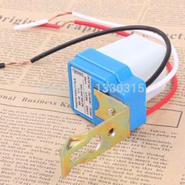 Wholesale Light Switch Photo Control Sensor - Wholesale-New Automatic Auto On Off street Light lamp Switch Photo Control Sensor DC AC 220V 50-60Hz 10A 4TeVo