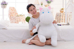 Wholesale Toy Hippo Gifts - Wholesale-100cm Christmas gift Moomin plush toy Moomin valley soft gift Moomin hippo doll