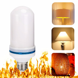 Wholesale Effect Lights - LED Flame Effect Fire Light Bulb E27 LED Flickering Lamp Beads Simulated Decorative Light Atmosphere Lighting Vintage Flaming Upwards