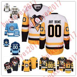 Wholesale Penguin Classics - Custom Pittsburgh Penguins Stitched Mens Womens Youth Black Third Gold Yellow White Navy Blue Winter Classic Stadium Series Hockey Jerseys