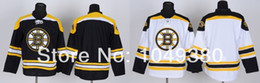 Wholesale Factory Outlet Discount Boston Bruins Ice Hockey Jerseys Blank Jersey Home Black Road White Color Can Mix Order