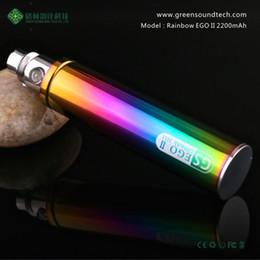 Argentina eGo 2200mAh KGO Rainbow 2200 mah GS ego II ego-II cigarrillo electrónico CE4s mt3 protank aerotank mega Nautilus RDA mods 510 atomizadores ego cheap nautilus rda Suministro