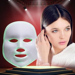 Wholesale Masks Led Facial - Fast shipping !!!7 colors photon PDT led facial mask blue green red light therapy beauty device For For Skin Rejuvenation Wrinkle Removal