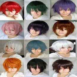 Wholesale Cosplay Naruto Boy - colors harajuku kokichi sawada Todo Heisuke anime wigs Inspired Naruto Kiba Inuzuka wigs short The Prince of Tennis cosplay wig