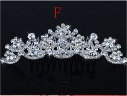 Wholesale Silver Hair Pieces - Best Selling Bridal Fascinators With Rhinestone Head Pieces Crystal Bridal Headbands Tiaras Crowns Wedding Hair Accessories