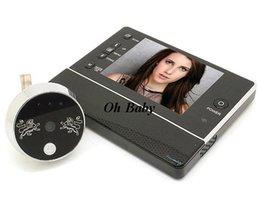 "Wholesale Smart Peephole Viewer - SDR 2014 New Luxury 3.5 "" Smart Peephole Viewer Video Door Phone ,Wide Angle Night Vision Video Door Camera"