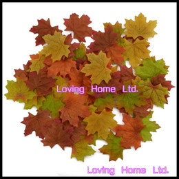 Home Decor Colorful Silk Leaves Autunno Autunno Maple Leaf 1000 Pz Decorazione della festa nuziale Confetti da