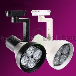 Wholesale Cooler Shots - LED track lights PAR30 40W White Cool White Warm white 85V-265V clothing store to shoot the light shop P30 4*10W track lights LLWA041