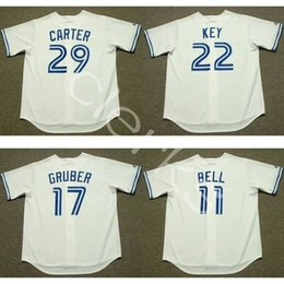 Wholesale Wine Keys - Customized 1990s Toronto TOR 29 Joe Carter 17 Kelly Gruber 22 Jimmy Key 11 George Bell 9 John Olerud Alomar Throwback Baseball Jerseys