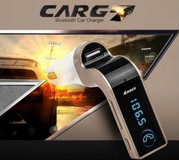 Wholesale Chinese Amplifiers - Car G7 Wireless Bluetooth FM Transmitter Modulator Car MP3 Player SD USB AUX car voltage protection with retail box