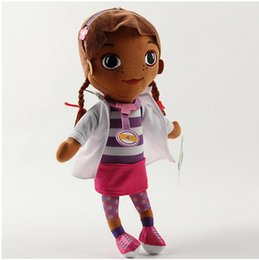 Wholesale Doc Mcstuffins Toys - Wholesale-Free shipping New 1Pcs Doc McStuffins Doctor Girls 35cm Size Plush Toys Stuffed Dolls Brinquedos ,Birthday gift