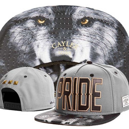 Wholesale Mens Wolf Hat - Wholesale-2015 new cool wolf adjustable baseball snapback hats and caps for men women fashion sports hip hop mens womens sun cap headwear