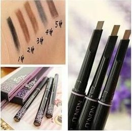 Wholesale Eyebrow Paint - 2015 new 1pcs automatic eyebrow pencil makeup 5 style paint for eyebrows brushes cosmetics brow eye liner tools brow pencil