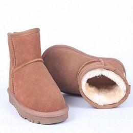 Wholesale Nubuck Cowhide Leather Shoes - Hot Sale Australian Women Snow Boost Ug Women Snow Boots 100% Genuine Cowhide Leather Ankle Boots Warm Winter Boots Woman Shoe
