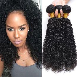 2019 бразильские человеческие волосы афро 8A бразильский кудрявый вьющиеся волосы пучки норки бразильский афро кудрявый вьющиеся человеческие волосы бразильский вьющиеся девственные волосы плетет Бесплатная доставка дешево бразильские человеческие волосы афро