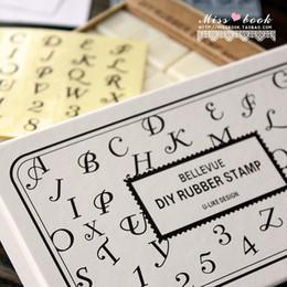 Wholesale Rubber Number Stamps - DIY Plastic Alphabet Number Stamps Creative Art Signature Rubber Stamp Blocks Korean Stationery HOT 36pcs SK764