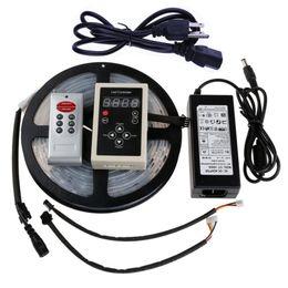 Wholesale Magic Power Supplies - Edison2011 RGB Led Magic Strip Light Controller 5050 Lantern Article IP67 5M 150Led 6803 IC String 133 Program + 12V 6A Power Supply Adapter
