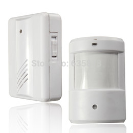 Wholesale Driveway Alarms - 120M Infrared White Wireless Home Security Motion Detector Sensor Human Body Induction Doorbell Driveway Alarms Free Shipping order<$18no tr