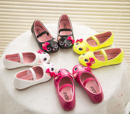 Wholesale Favorite Cartoons - 4 Color Cat Girls Favorite Cartoon PU Shoes 2015 new Children Fashion Candy color lovely princess Shoes B001