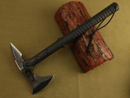 Wholesale outdoor axes - Free shipping SOG axe Tomahawk Army Indian 56HRC 420 Steel Outdoor Hunting Camping Axe Fire Axe Axes Tool Mountain-cutting Hatchet