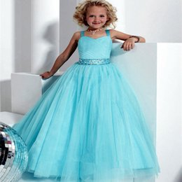 Wholesale Real Feather Vest - 2016 Brand New Flower Girl Dresses White Ivory Real Party Pageant Communion Dress Little Girls Kids Children Dress for Wedding