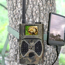 Wholesale Gprs Mms - HC-300M Trail Hunting Camera Photo Trap MMS SMS GSM GPRS 12MP HD Wild Camouflage Vedio Game Cameras with 36 Pcs IR LEDs