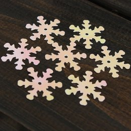 Wholesale Order Confetti - 100pcs Iridescent Snowflake Confetti Sequins Christmas for Frozen Crafts Color Vision order<$18no track
