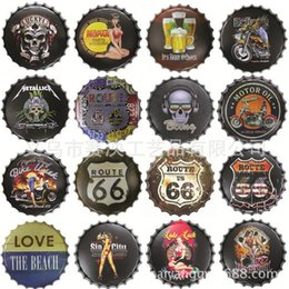 Wholesale Retro Modern Home Decor - Retro Tin Metal Poster Beer Bottle Caps Sign Poster Plaque Bar Pub Club Wall Home Decor 8x12 inch (20x30cm)