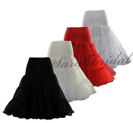Wholesale Tulle Crinoline Skirt - New Arrival 2016 3 Layer Organza 1 Tulle Tea Length Short Knee Swing Skirt Prom Slips Crinoline Bridal Petticoat Underskirt Cheap