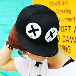 Wholesale Rivet Hats Cap - Wholesale-Fashion rivet XX eyes acrylic snapback cap for men punk Sharp teeth baseball cap swag hip hop bone cap men Hats for women B198