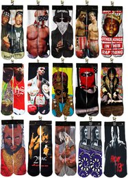 Wholesale Rocky Red - Wholesale-Bandit King Rocky Tyson 2015 Cool Human Guys design 3D printed odd future summer style skate socks towel bottom basketball socks
