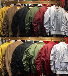 Wholesale Fashio Men - Fear Of God Jacket Men Autumn Winter 1:A High Quality MA-1 Bomber Coat Flight Air Force Pilot Fashio Hip Hop Fear Of God Jacket