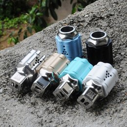 Wholesale Rubix Cubes - Wintersweet RDA Cubed Drip Tip Rebuidable Atomizer 22mm Diameter Fresh Design Copper Contact vs Rubix Oczy Mutation X V6 DHL