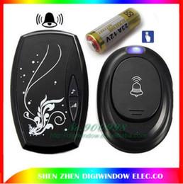 Wholesale Black Door Knobs - Waterproof Black EU Plug-in 220V AC Digital LED 36 Cord Song Music 100M Range Wireless Remote Control Home Door Bell Doorbell