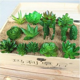 Wholesale Shipping Garden Supplies - ZAKKA Simulation Of Artificial Potted Plants Succulents Mini Decorative Artificial Flowers For Home garden decoration supplies free shipping