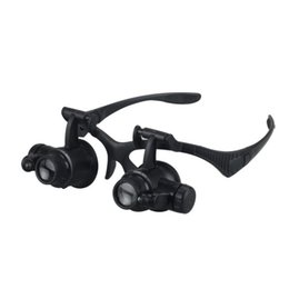 Wholesale Accessories Automotive - Hot Car Accessories 8 Lens 10x 15x 20x 25x Headband 2LED Magnifier Magnifying Loupe 9892G