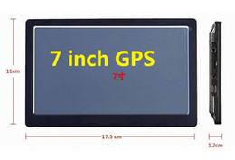 "Wholesale Gps Navigator Touch Screen - 7"" Car GPS Navigator Navigation SIRF Atlas-V Dual-Core CPU 800*480 HD Touch Screen 4GB Memory Free Maps Bluetooth Free DHL"