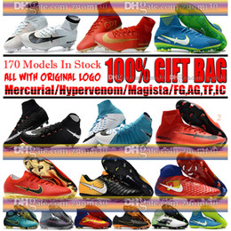 Wholesale Outdoor Rubber Boots - Mens Mercurial Superfly CR7 V AG FG Football Boots Ronaldo High Ankle Magista Obra II ACC Soccer Shoes Neymar JR Phantom IC TF Soccer Cleats