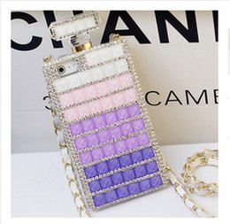 "Wholesale Iphone 4s Case Handbag - Rhinestone Case Crystal Luxury Perfume Bottle Perfume Cover with Chain for Iphone 4s 5s Iphone 6 4.7"" Iphone 6 plus 5.5"""